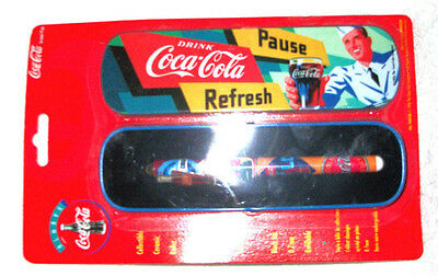 1996 Coca-Cola Ceramic Roller Ball Pen in Collector Tin ~ New & Factory-Sealed!