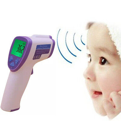 Digital Thermometer Gun Forehead Non-contact Infrared IR Laser Body Baby & Adult