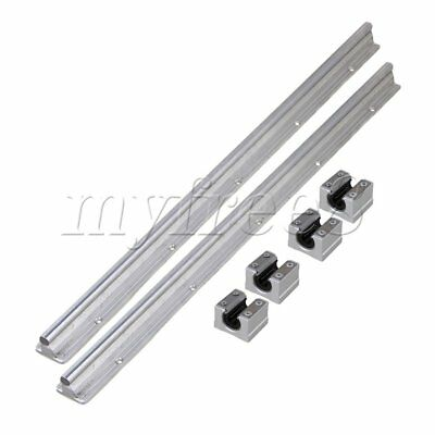 6x CNBTR 10mm Shaft 50cm Linear Bearing Rail w/ Open CNC Linear Bearing Slide