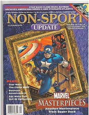 Non-Sports Update Magazine  Marvel Masterpieces Cover   2007 Issue