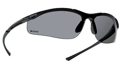 Bolle Contour POLARIZED CONTPOL Smoke Shaded Safety Glasses UVA UVB protection