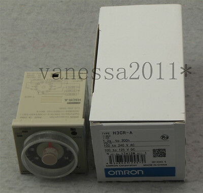 New OMRON Timer H3CR-A 100-240VAC/100-125VDC H3CRA
