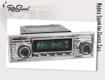 Mercedes, VW Bus; Oldtimer Car Radio for Youngtimer RetroSound ZUMA, USB