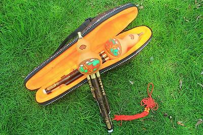 * Sale * Chinese Hulusi Drone Bamboo Flute in A/bB/C/D Key + Flute Case New