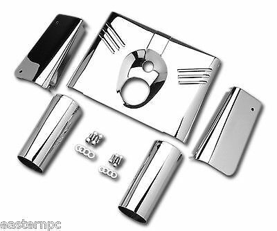 Custom Chrome 5 Piece Nacelle Fork Tins 86-16 Harley FL Softail Heritage Fatboy