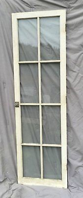 Antique 8 Lite Casement Cupboard Window Cabinet Bookcase Shabby Vtg Old 1493-16