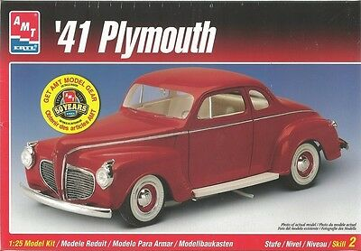 AMT '41 Plymouth Plastic Model Car Kit Scale 1/25 #6184 HR