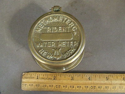 Vintage Brass Metro Meter Co. Trident Water Meter New York Steampunk
