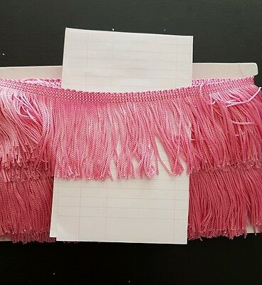 "1m 2.5"" 6cm drop Tassel Fringe / Fringing Trim lace trimming light pink"