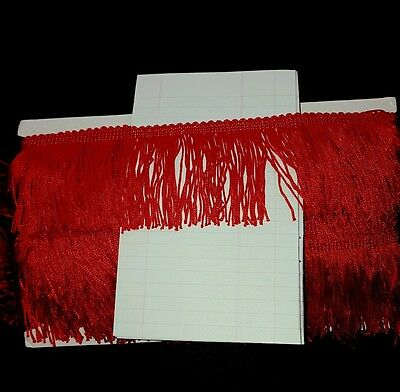 "1m 2.5"" 6cm drop Tassel Fringe / Fringing Trim lace trimming red"