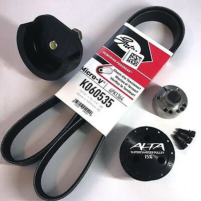 Alta 15% SC Reduction Pulley Kit with Tool & Belt for 02-06 MINI Cooper S R53