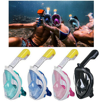 New Swimming Full Face Mask Surface Diving Snorkel Scuba for GoPro Swim S/M L/XL