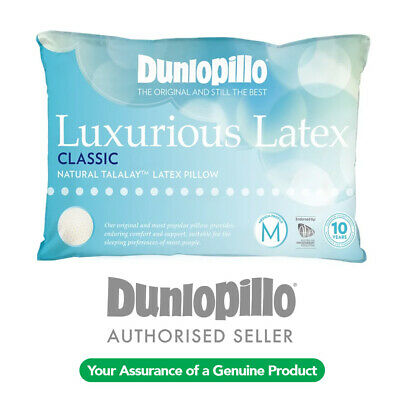 DUNLOPILLO Luxurious Talalay Latex Classic Medium Profile & Feel Pillow RRP $149