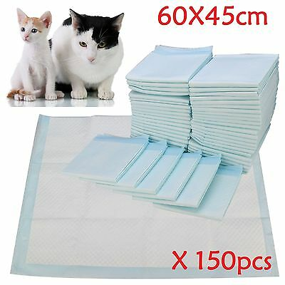 150pcs Large Puppy Training Trainer Train Pads Dog Cat Toilet Pee Wee Mats 60X45