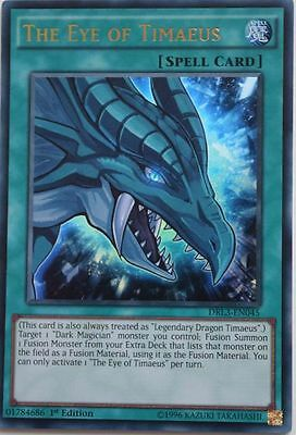*** The Eye Of Timaeus *** 3 Available!  Ultra Rare Drl3-En045 Yugioh!