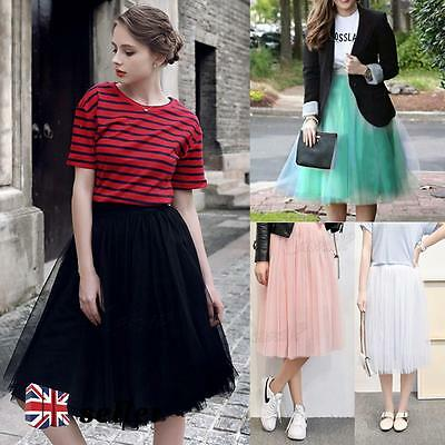 Vintage 50's Rockabilly Tulle Skirt Long Tutu Petticoat Ballet Ball Gown Dress