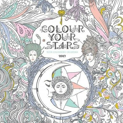 Colour Your Stars 2017 Wall Calendar NEW by Browntrout