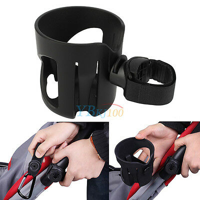 Universal Baby Stroller Buggy Pushchair Bicycle Bottle Cup Holder + Carabiner
