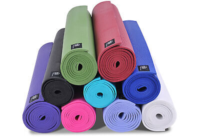Yoga Studio Deluxe Yoga Exercise Gym Workout Fitness Non Slip Sticky Mat 6mm