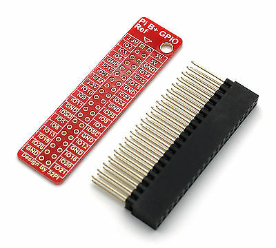 40 Pin (2x20) Header with GPIO Reference PCB for Raspberry Pi - A+, B+, 2 and 3