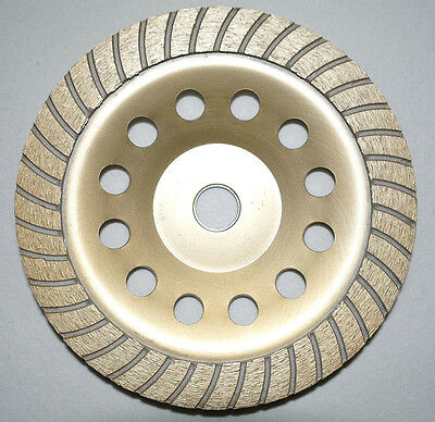 "7"" 180 mm turbo diamond grinding disc grinder cup wheel stone marble concrete"