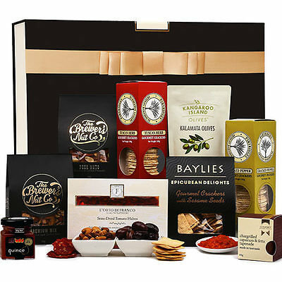 The Hamper Emporium – Entertainer Gourmet Hamper with Luxury Keepsake Gift box