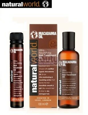 Natural World Macadamia Natural Oils Healing Oil Treatment 100ml 25ml for all