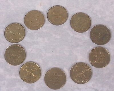 10 Say No to Drugs NA Narcotics Anonymous Alcohoics Anonymous Chip Medal Tokens