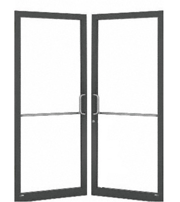 New in Box Aluminum Storefront Pair of Doors & Frame