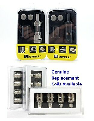 Genuine Uwell Crown Tank and Replacement Coils 4 Pack -1.2 ,0.5 & 0.15 Available