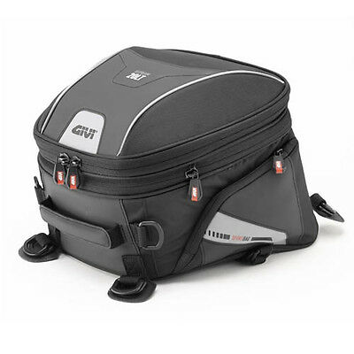 Givi XS313 Motorcycle Tail Rear Expandable Saddle Bike Bag Pack 20 Litre - Black