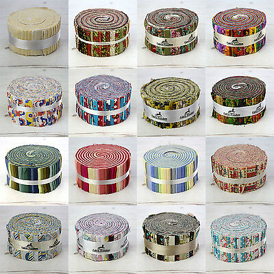 "40 Jelly Roll Strips - 100% Cotton Patchwork Craft Quilting Fabric 2.5"" x 44"""