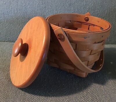 1998 Longaberger Small Basket with top Mint