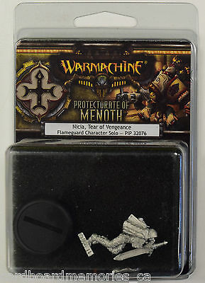 Warmachine Protectorate of Menoth Nicia, Tear of Vengeance Solo PIP 32076 - NEW
