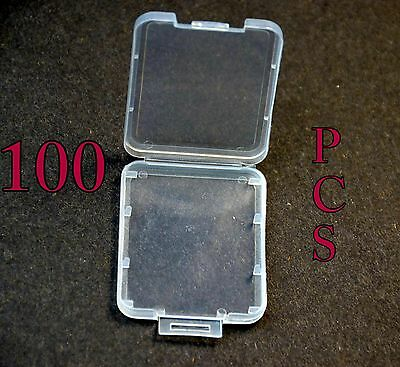 100 CF Compact Flash Plastic jewel Case for SanDisk Transcend memory card New