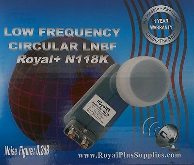 Royal Plus Circular Combo LNB 10750 frequency for 118/119