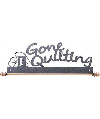 """Ackfeld 22"""" Gone Quilting Charcoal Metal Wall Craft Quilt Textile Holder Hanger"""