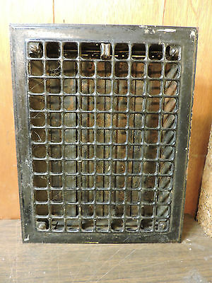 Vintage 1920S Iron Heating Grate Square Design 13.75 X 11 H