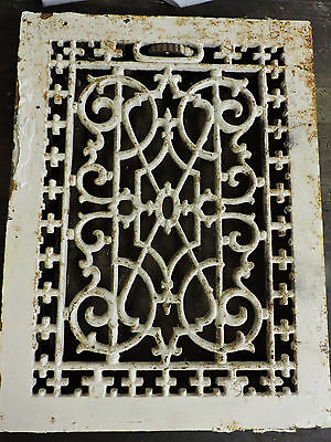 Antique Late 1800's Cast Iron Heating Grate Unique Ornate Design 16 X 12   C