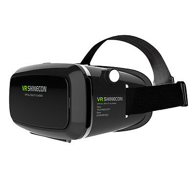 3D VR Headset Virtual Reality Box w/ Adjustable Lens Strap for iPhone 6 plus HY