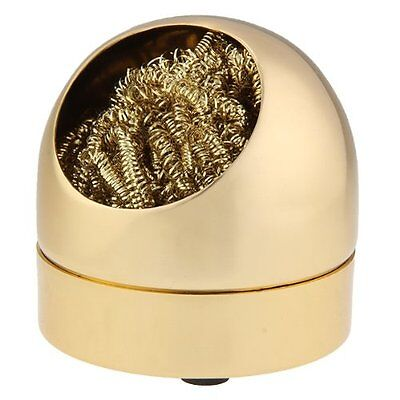 solder tip cleaner iron metal sponge sponge Gold color New HY