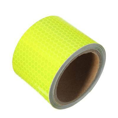 5cm X 3m Fluorescence Yellow Night Reflective Safety Warning Conspicuity Tape HY
