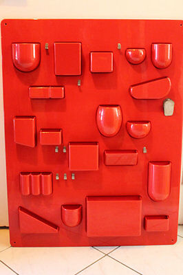 Red Uten Silo BRAND NEW sealed 100% AUTHENTIC Vitra Modern Wall Organizer LARGE
