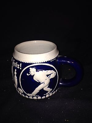 "6"" German Sporting Porcelain Bowling Mug"