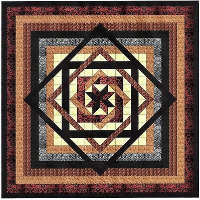 LABYRINTH in CREAM & BROWNS Quilt Top - Not Quilted, Machine Pieced
