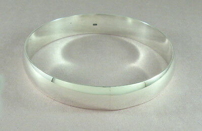 """925 sterling silver large size heavy segmented  bangle 1//2/"""" wide"""