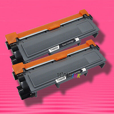 2 TONER for BROTHER TN-660 TN660 DCP-L2520DW DCP-L2540DW