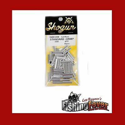 Shogun Aluminium Standard Fishing Crimps 1.0mm-2.3mm 50 Pack at Fishing Fever