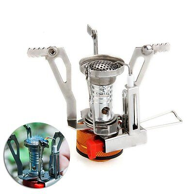 Mini Portable Pocket Camping Gas Stove Stoves Outdoor Folding Cooking Burner New