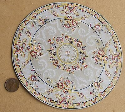 1:12 Scale 16cm Diameter Cream Circular Rug Doll House Miniature Carpet 6837